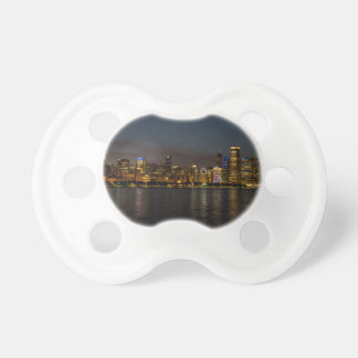 Chicago Night Cityscape Pacifier