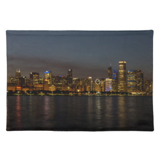 Chicago Night Cityscape Placemat