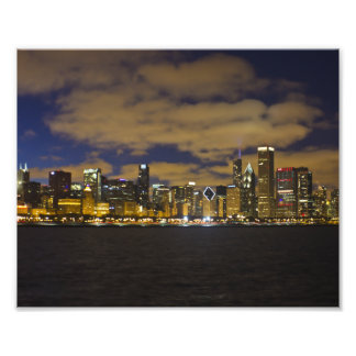 Chicago Night Skyline Print