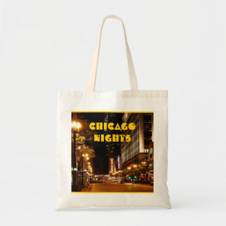 chicago nightlife tote bag