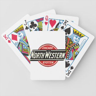 Chicago & Northwestern Railroad Logo 1 Bicycle Playing Cards
