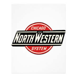 Chicago & Northwestern Railroad Logo 1 Custom Letterhead