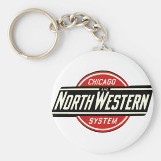 Chicago & Northwestern Railroad Logo 1 Keychain