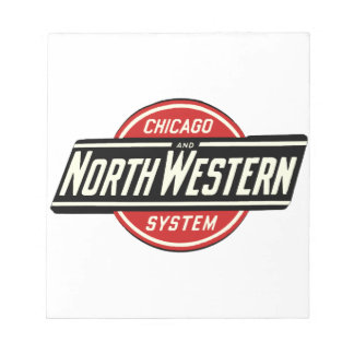 Chicago & Northwestern Railroad Logo 1 Notepad