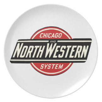 Chicago & Northwestern Railroad Logo 1 Plate