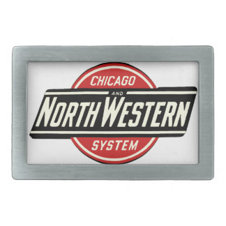 Chicago & Northwestern Railroad Logo 1 Rectangular Belt Buckle