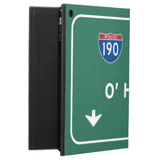 Chicago O'Hare Airport I-190 W Interstate Illinois Cover For iPad Air