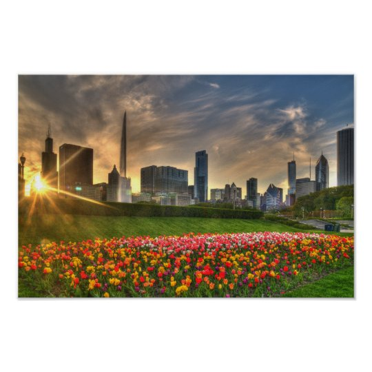 Chicago on canvas poster