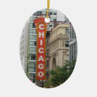 Chicago Ceramic Oval Ornament