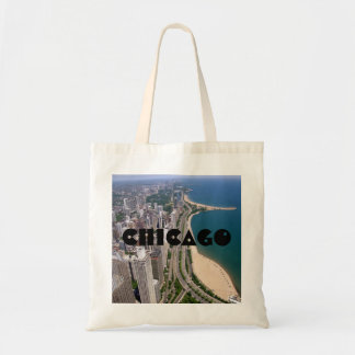 Chicago panoramic view tote bag