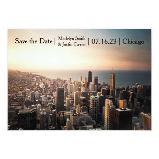 Chicago Photo - 3x5 Save the Date Card