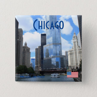 Chicago photography magnet 2 inch square button