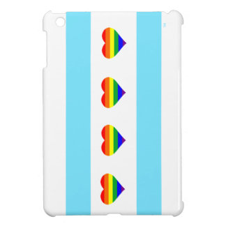 Chicago Pride Rainbow Hearts Flag Case iPad Mini Cover