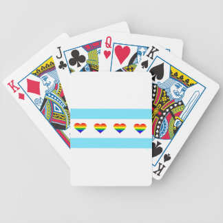 Chicago Pride Rainbow Hearts Flag Deck of Cards