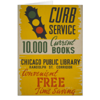 Chicago Public Library Curb Service Card