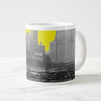 Chicago Rail Yards Loop Railroad 1960's Photo Giant Coffee Mug