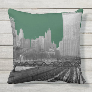 Chicago Rail Yards Michigan Avenue 1960's Photo Throw Pillow