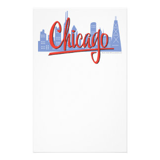 CHICAGO-RED STATIONERY