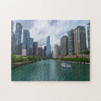 Chicago River and Trump Tower Jigsaw Puzzle
