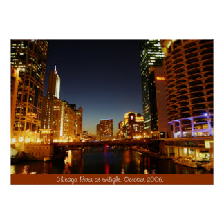 Chicago River at  Poster