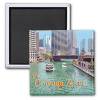 Chicago River At The Merchandise Mart Magnet