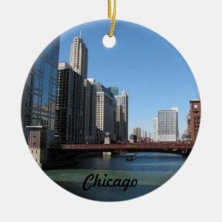 Chicago River Ceramic Ornament