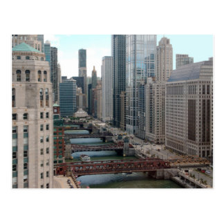 Chicago River Cityscape - Along the Main Branch Postcards