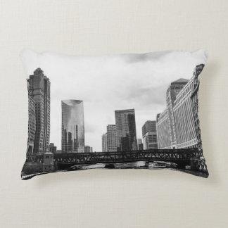 Chicago River Decorative Pillow