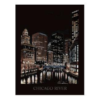 Chicago River Fine Art Randsom Art Post Card
