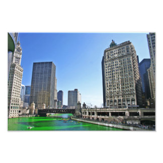 Chicago River on St. Patty's Day Photo Print