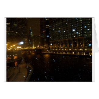 Chicago River walk along Michigan Ave. Card