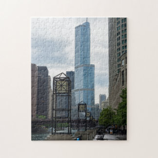 Chicago River Walk Jigsaw Puzzle
