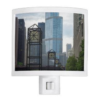 Chicago River Walk Night Light