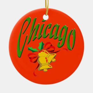 Chicago Round Ceramic Ornament
