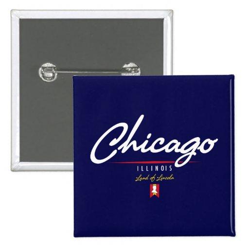 Chicago Script Pin