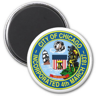 Chicago Seal 2 Inch Round Magnet