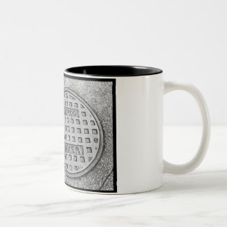 chicago sewer Two-Tone coffee mug