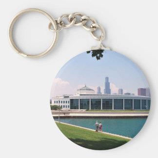 Chicago Shedd Aquarium collection Basic Round Button Keychain