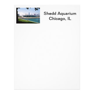 Chicago Shedd Aquarium collection Customized Letterhead