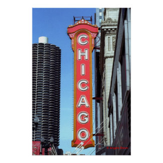 Chicago Sign Poster