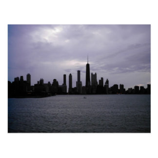 Chicago Skyline and Lake Michigan Postcard