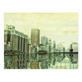 Chicago Skyline Artwork Postcard