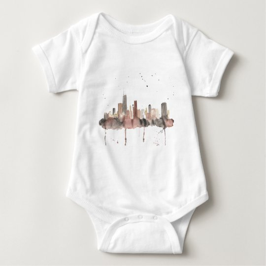 Chicago Skyline Baby Bodysuit