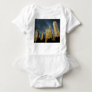 Chicago Skyline Before A Storm Baby Bodysuit