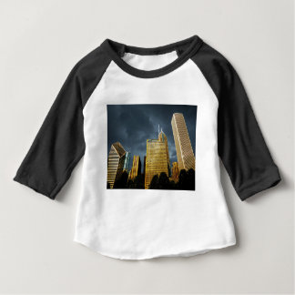 Chicago Skyline Before A Storm Baby T-Shirt