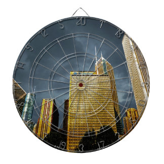 Chicago Skyline Before A Storm Dartboard