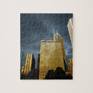 Chicago Skyline Before A Storm Jigsaw Puzzle