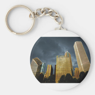 Chicago Skyline Before A Storm Keychain