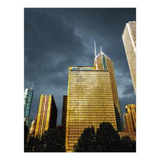 Chicago Skyline Before A Storm Letterhead