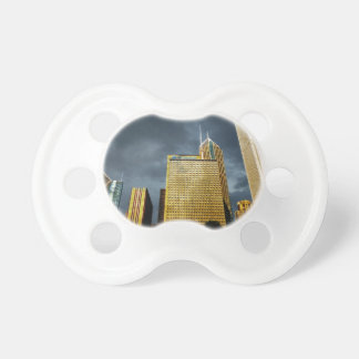 Chicago Skyline Before A Storm Pacifier